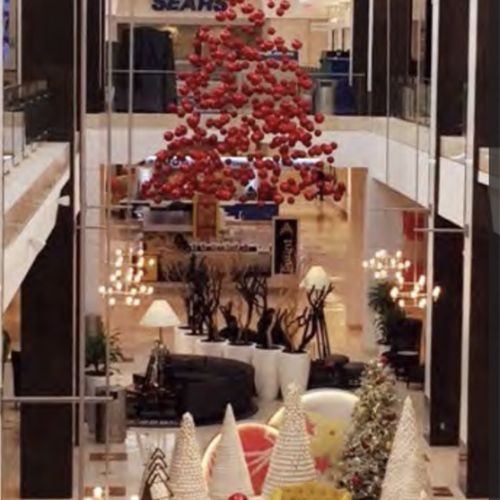 Shopping Center Decor, Overhead Holiday Decor, Iconic Holiday