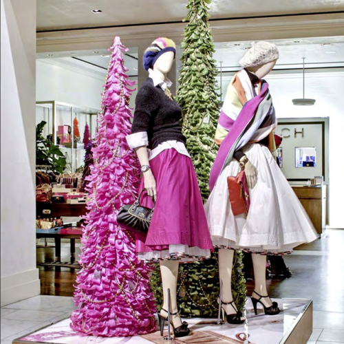 Retail Holiday Roll Outs, Coach Holiday, Satin Ribbon, Branded Design Solutions, Retail Holiday, Matthew Schwam