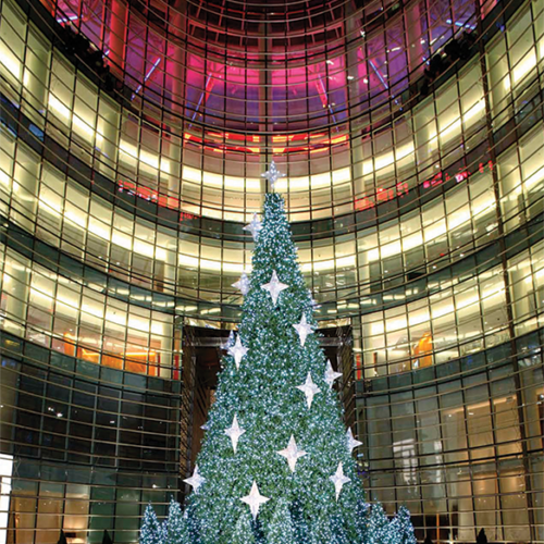 Bloomberg Building Christmas in New York, Iconic Holiday, Matthew Schwam